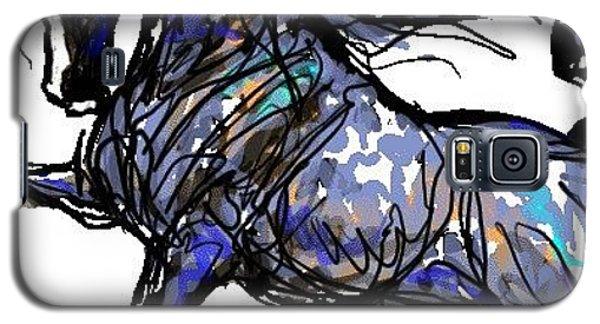 Arabian In Blue Galaxy S5 Case by Stacey Mayer