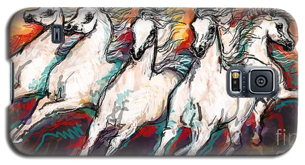 Arabian Sunset Horses Galaxy S5 Case by Stacey Mayer