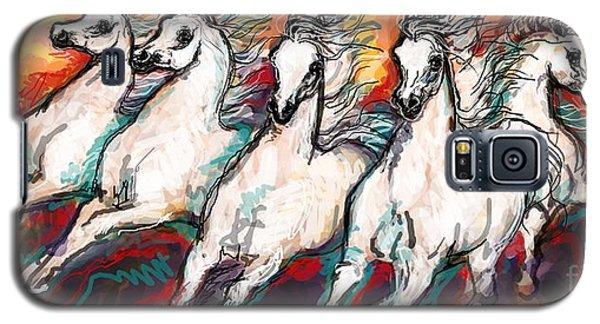 Arabian Sunset Horses Galaxy S5 Case