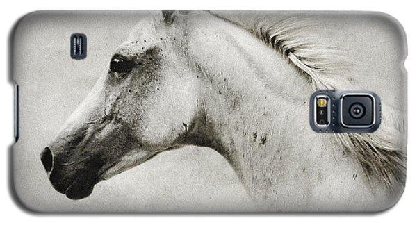 Arabian White Horse Portrait Galaxy S5 Case