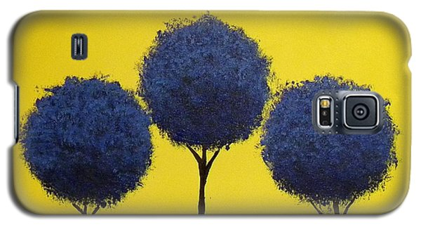 Galaxy S5 Case featuring the painting Arboles by Edwin Alverio