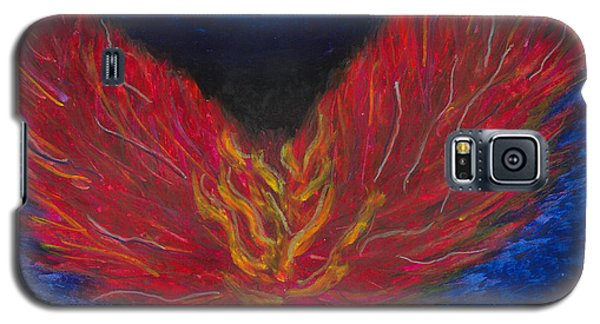 Galaxy S5 Case featuring the painting Arch Angel Gabrielle  by Ania M Milo
