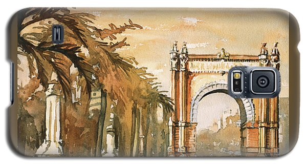 Galaxy S5 Case featuring the painting Arch- Barcelona, Spain by Ryan Fox