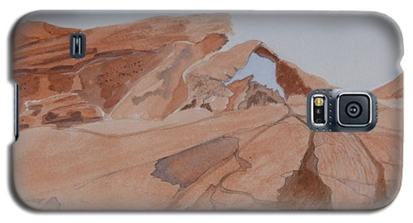 Arch Rock - A Watercolor Sketch Galaxy S5 Case by Joel Deutsch