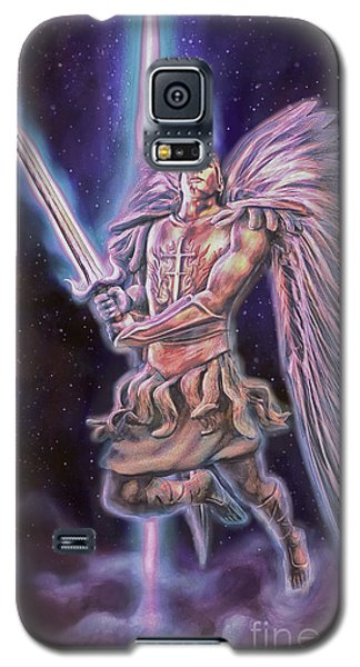 Galaxy S5 Case featuring the painting Archangel Michael - Starstuff by Dave Luebbert