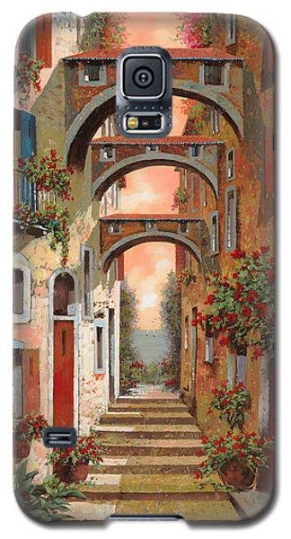 Town Galaxy S5 Case - Archetti In Rosso by Guido Borelli