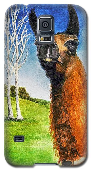 Galaxy S5 Case featuring the painting Archimedes by Polly Peacock
