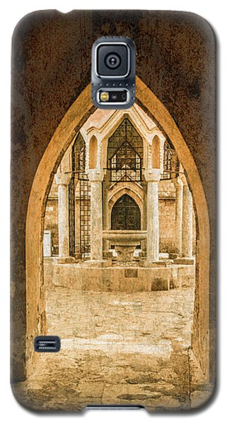 Galaxy S5 Case featuring the photograph Rhodes, Greece - Archway by Mark Forte
