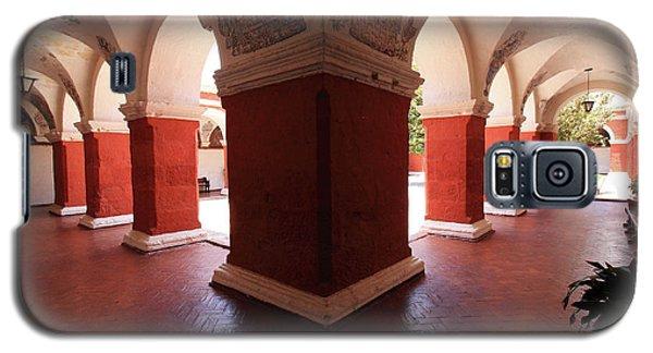 Galaxy S5 Case featuring the photograph Archway Paintings At Santa Catalina Monastery by Aidan Moran