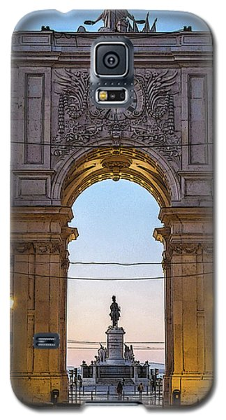 Arco Da Rua Augusta At Sunrise Galaxy S5 Case