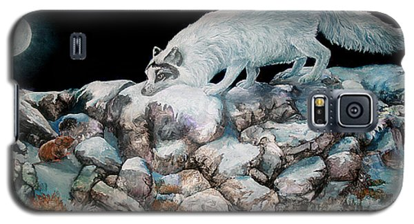 Galaxy S5 Case featuring the painting Arctic Encounter by Sherry Shipley