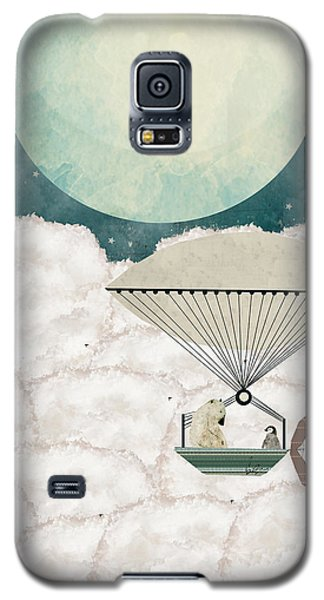 Galaxy S5 Case featuring the painting Arctic Explorers by Bri B