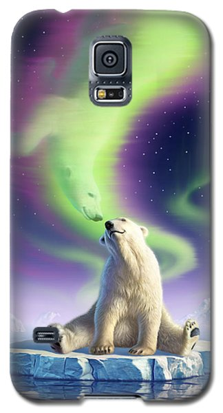 Bear Galaxy S5 Case - Arctic Kiss by Jerry LoFaro