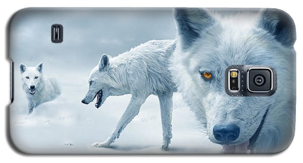 Arctic Wolves Galaxy S5 Case by Mal Bray