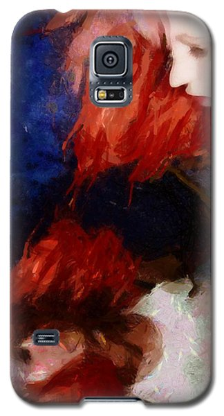 Galaxy S5 Case featuring the digital art Are You There My Mirror Twin by Gun Legler