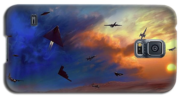 Galaxy S5 Case featuring the painting Area 51 Groom Lake by Dave Luebbert