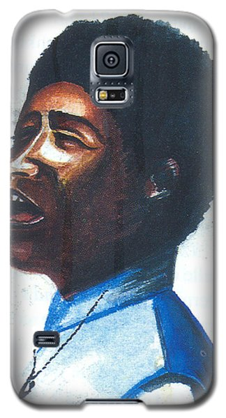 Galaxy S5 Case featuring the painting Aretha Franklin by Emmanuel Baliyanga