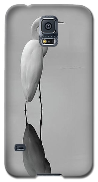 Argent Mirror Black And White Galaxy S5 Case