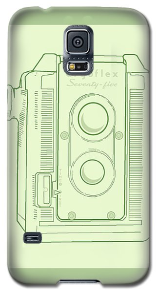 Galaxy S5 Case featuring the digital art Argoflex Green by Christina Lihani