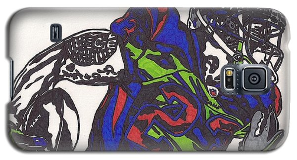 Galaxy S5 Case featuring the drawing Arian Foster 1 by Jeremiah Colley