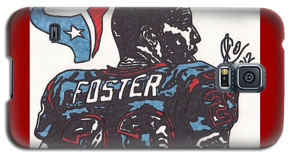 Galaxy S5 Case featuring the drawing Arian Foster 2 by Jeremiah Colley