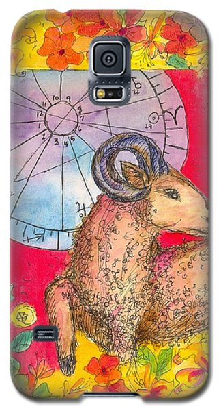 Galaxy S5 Case featuring the painting Aries by Cathie Richardson