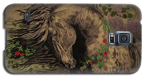 Galaxy S5 Case featuring the drawing Aristocratic Horse by Melita Safran