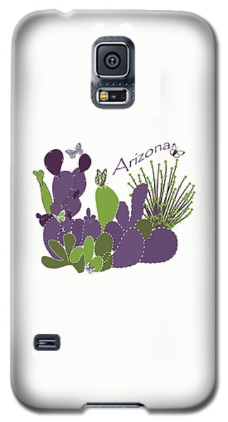 Galaxy S5 Case featuring the digital art Arizona Cacti by Methune Hively