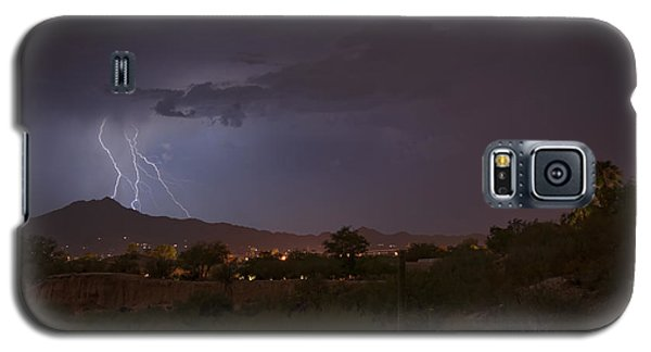 Galaxy S5 Case featuring the photograph Arizona Monsoon Lightning by Dan McManus