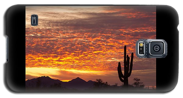Arizona November Sunrise With Saguaro   Galaxy S5 Case