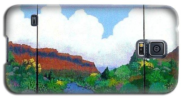 Galaxy S5 Case featuring the painting Arizona Sky by Bernard Goodman