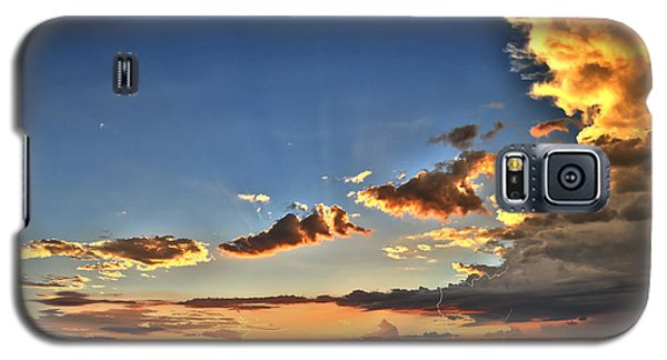 Galaxy S5 Case featuring the photograph Arizona Sunset Storm by James Menzies