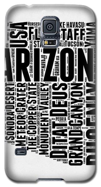 Arizona Word Cloud Map 2 Galaxy S5 Case by Naxart Studio
