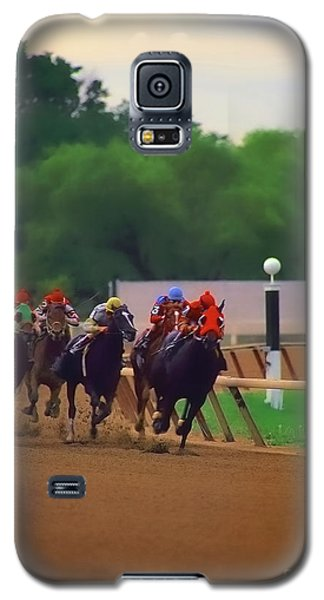 Arlington Park Out Of The Turn Into The Stretch Galaxy S5 Case