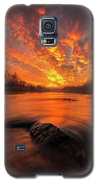 Galaxy S5 Case featuring the photograph Fire On Sky by Davorin Mance