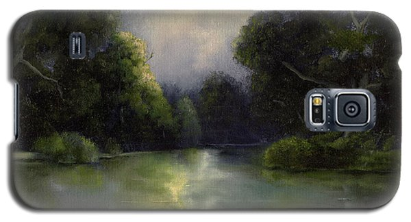 Galaxy S5 Case featuring the painting Around The Bend by Marlene Book