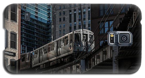 Train Galaxy S5 Case - Around The Corner, Chicago by Reinier Snijders