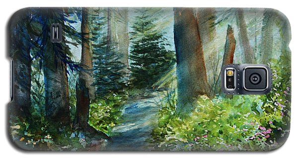 Galaxy S5 Case featuring the painting Around The Path by Kerri Ligatich