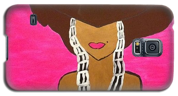 Galaxy S5 Case featuring the painting Around The Way Girl  by Samimah Houston
