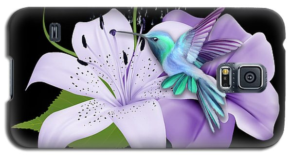Galaxy S5 Case featuring the mixed media Arrival Hummingbird by Marvin Blaine