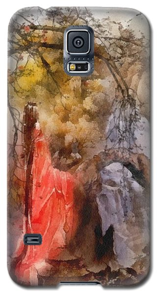 Galaxy S5 Case featuring the painting Arrival by Mo T
