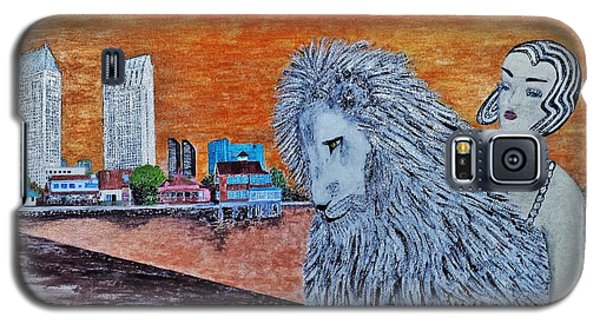 Galaxy S5 Case featuring the painting Arrival To San Diego by Jasna Gopic