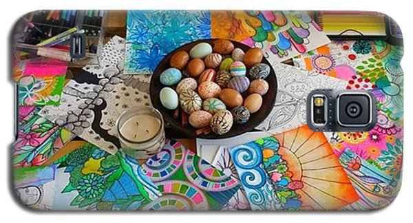 Galaxy S5 Case - #art #artsupplies And #fresheggs..ready by Robin Mead