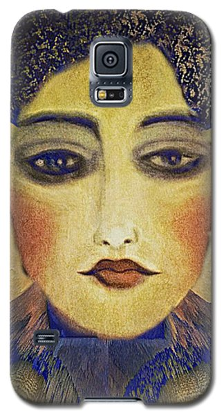 Galaxy S5 Case featuring the digital art Art Deco  Beauty by Alexis Rotella