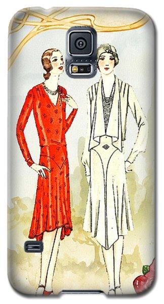 Art Deco Fashion Girls Galaxy S5 Case