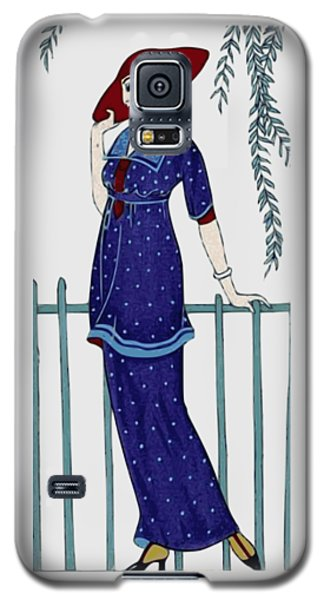 Art Deco Fashion Polka Dots Galaxy S5 Case