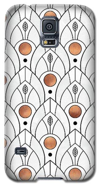 Art Deco Leaves 1 Galaxy S5 Case by Elisabeth Fredriksson