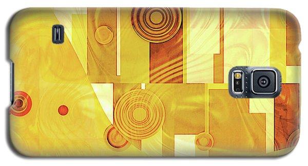Art Deco Yellow Galaxy S5 Case
