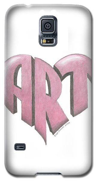 Art Heart Galaxy S5 Case