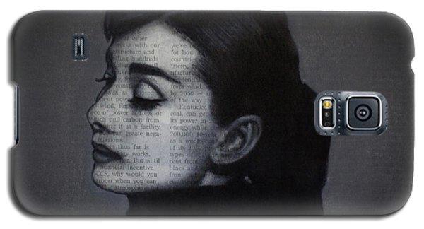 Art In The News 98-audrey Hepburn Galaxy S5 Case
